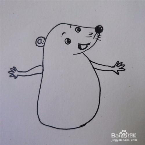 如何画小刺猬的卡通简笔画