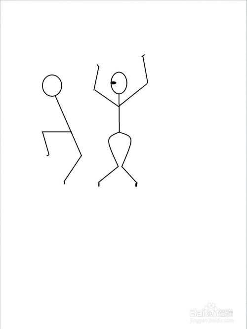 热舞的火柴人简笔画方法