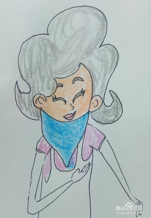 怎样画儿童简笔画 笑眯眯的围裙妈妈图片