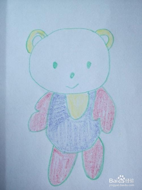 如何简笔画两只呆萌的小熊