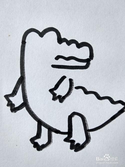 小鳄鱼的简笔画怎么画
