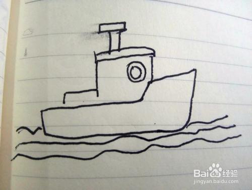 远航的小船简笔画