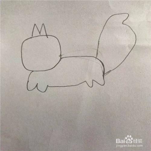 松鼠的简笔画画法