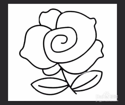 简笔画小玫瑰的画法