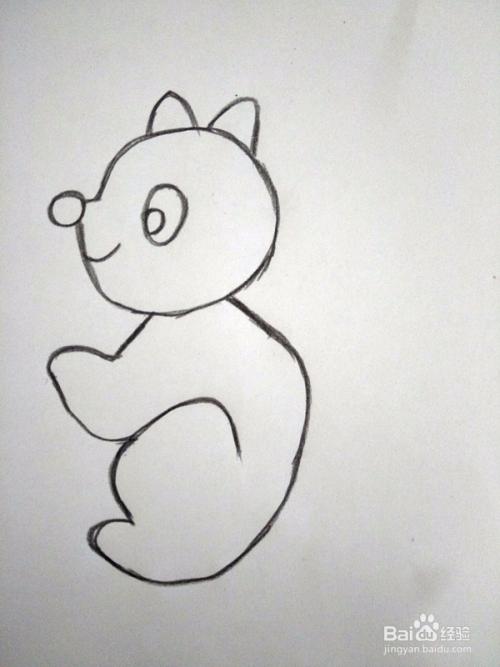 简笔画 小松鼠的画法