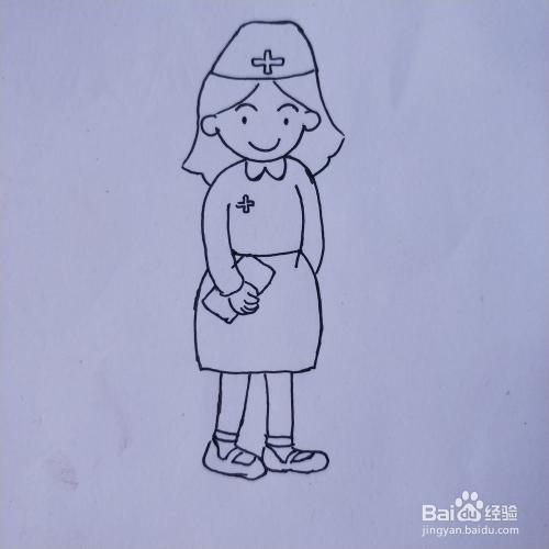 人物简笔画系列 怎么画护士