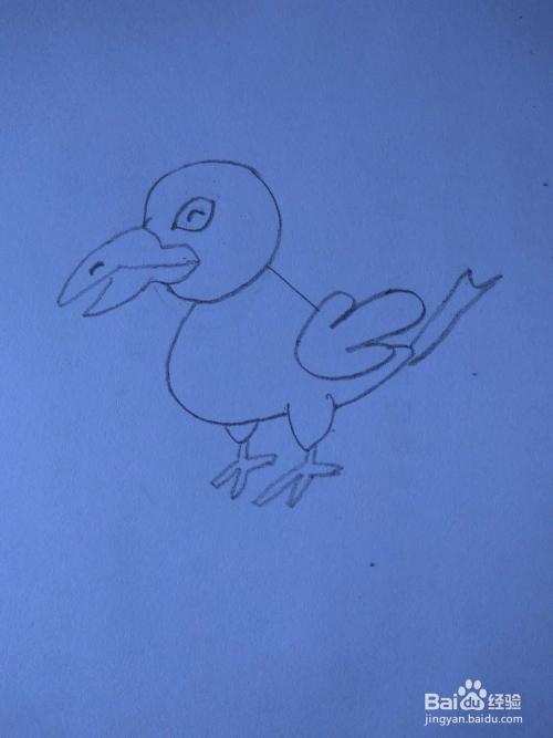如何画乌鸦喝水的简笔画