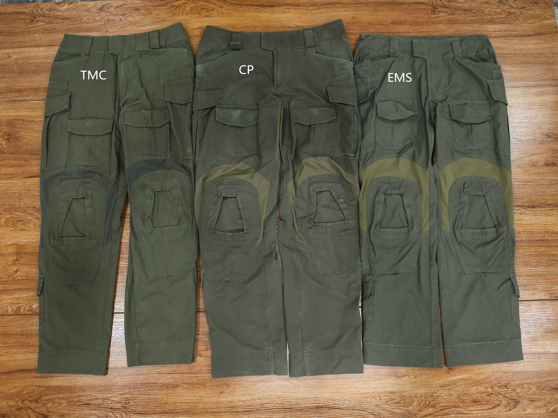 三个公司(CP、TMC、EMS)的RG色G3作战裤全方位对比!