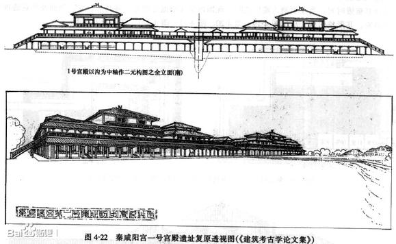 秦咸阳城布局_下面贴一张保存较佳的辽宁绥中的秦代离宫基址分布图。