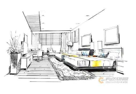 庐山手绘特训营官网_室内空间设计马克笔色彩表现