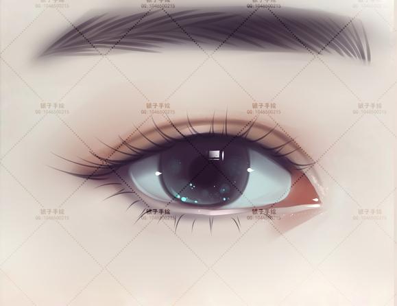 唯美写实眼睛转手绘详细过程图文教程-1