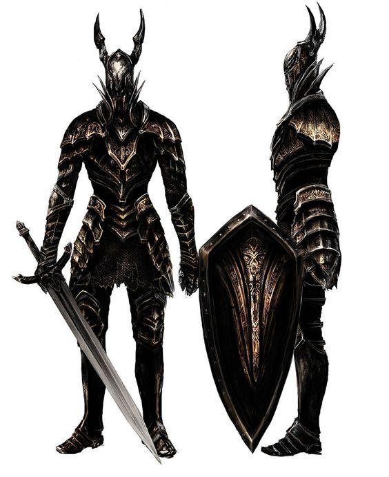 黑暗铠甲图片_《黑暗之魂》中的黑骑士