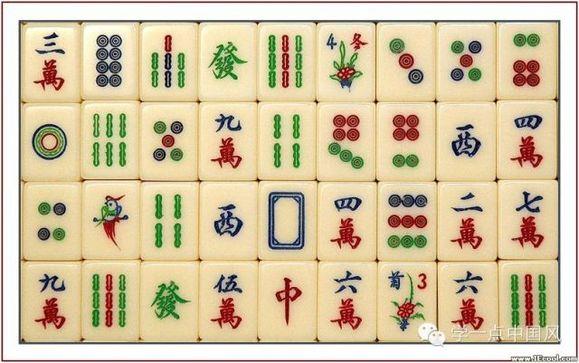 八条麻将图片_最初麻将牌的图案选取的是《水浒传》中的108个好汉。
