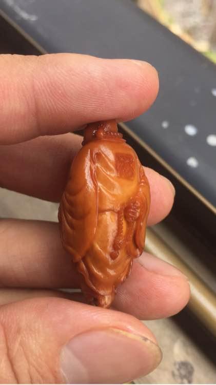 福荣堂神笔核雕用一个月时间盘红黄胖子橄榄核 二十徒弟【神笔核雕】 14