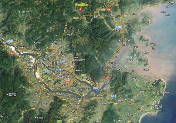 连江到贵安新天地_这张图比较直观地表示了贵安新天地在福州主城区靠近东北的 ...