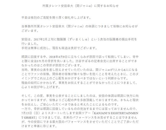 大 安田 手術 章