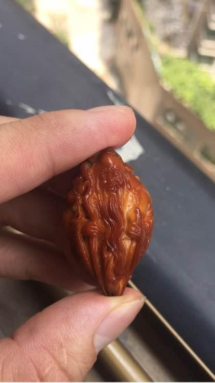 福荣堂神笔核雕用一个月时间盘红黄胖子橄榄核 二十徒弟【神笔核雕】 34