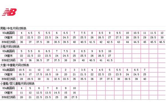 nb中美鞋码对照表_回复(1) 收起回复