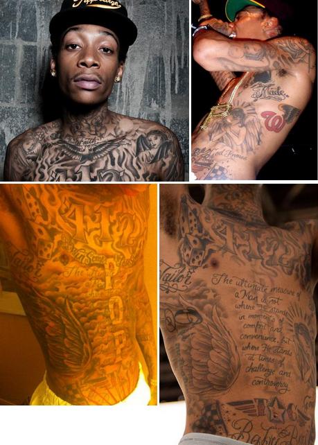 Inspired Tattoo Ideas: Veritas Aequitas: Wiz Khalifa & The ... |Wiz Khalifa Neck Tattoos Left Side