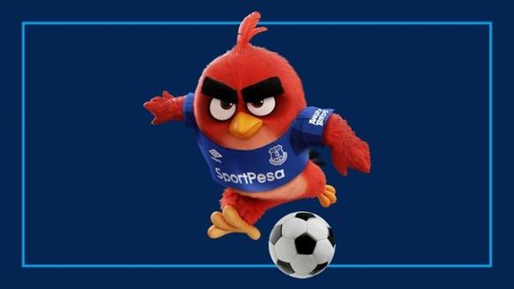 跨界合作:愤怒的小鸟飞上了埃弗顿球员的衣袖