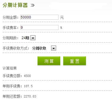 中信银行信用卡分期付款买车手续费