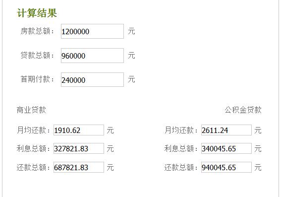 组合贷款利息计算 2