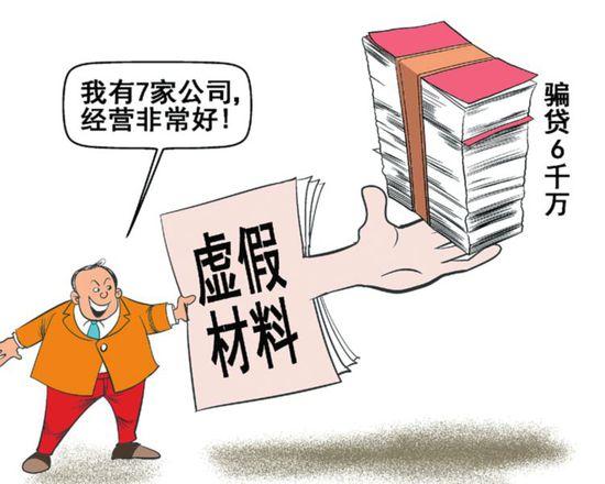 虚假材料骗取银行贷款罪