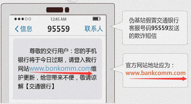 银行卡盗刷 诈骗短信